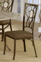 Hillsdale Brookside Oval Back Brown Powder Coat Fossil Chair - Set of 2
