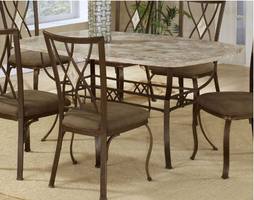 Hillsdale Brookside Rectangle Brown Powder Coat  Dining Table