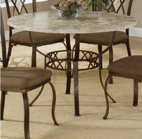 Hillsdale Brookside Round Brown Powder Coat Dining Table
