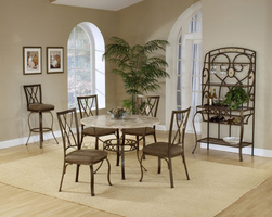 Hillsdale Brookside Round Dining Set with Diamond Back Chairs
