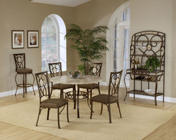 Hillsdale Brookside Round Dining Set with Oval Back Chairs