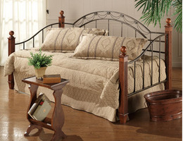 Hillsdale Camelot Black Gold Wood Post Daybed