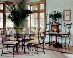 Hillsdale Camelot II Black Gold Dining Room Set