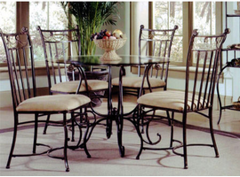 Hillsdale Camelot II Black Gold Dining Table