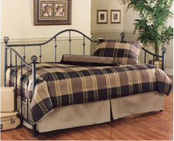 Hillsdale Chalet Textured Black Metal Daybed