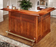 Hillsdale Cherry Large Bar with Side Bar