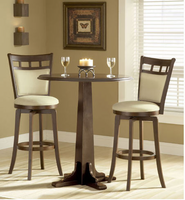 Hillsdale Dynamic Designs Pub Table Set with 4 Jefferson Bar Stools