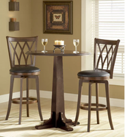 Hillsdale Dynamic Designs Pub Table Set with 4 Mansfield Bar Stools