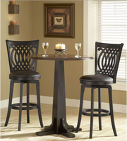 Hillsdale Dynamic Designs Pub Table Set with 4 Van Draus Bar Stools