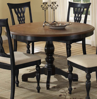 Hillsdale Embassy Cherry Top with Rubbed Black Pedestal Table
