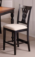 Hillsdale Embassy Rubbed Black Non-Swivel Counter Stool - Set of 2