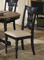Hillsdale Embassy Rubbed Black Side Chair - Set of 2