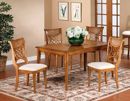 Hillsdale Glenmary Rectangular 5-Piece Dining Table Set in Oak