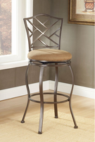 Hillsdale Hanover Swivel Counter Stool in Brown Powder Coat