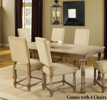 Hillsdale Hartland 5 Piece Dining Set in Light Washed Oak