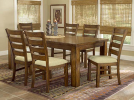 Hillsdale Hemstead 5 Piece  Dining Table Set in Dark Oak