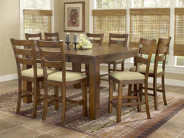 Hillsdale Hemstead 5 Piece Gathering Table Set in Dark Oak