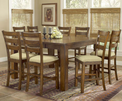 Hillsdale Hemstead Dark Oak Gathering Dining Table with Stools