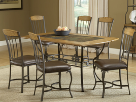 Hillsdale Lakeview 7-Piece Rectangle Dining Set with Wood Chairs in Brown/ Medium Oak