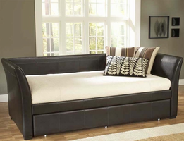 Hillsdale Malibu Daybed in Brown Leather with Optional Trundle