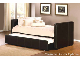 Hillsdale Marcella Daybed in Brown Leather - Optional Trundle Drawer