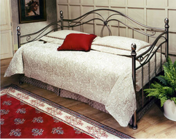 Hillsdale Milano Antique Pewter Metal Daybed