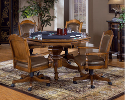 Hillsdale Nassau Brown Game Table
