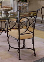 Hillsdale Pompei Black Gold Dining Chairs - Set of Two
