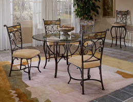 Hillsdale Pompei Black Gold with Slate Mosaic Dining Room Set