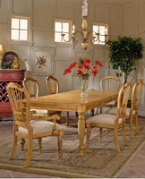 "Hillsdale Wilshire Rectangular Dining Table with Two 18"" Leaves Set with 4 Chairs and 2 Arm Chairs"