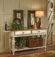 Hillsdale Wilshire Sideboard Table in Antique White