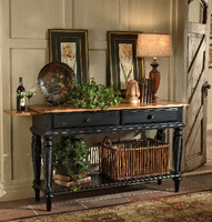 Hillsdale Wilshire Sideboard Table in Rubbed Black