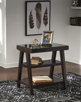 Ashley Express Furniture Home Office Corner Table, Dark Brown
