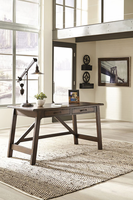 Ashley Express Furniture Home Office Large Leg Desk, Rustic Brown