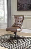 Ashley Express Furniture Home Office Swivel Desk Chair, Brown