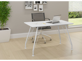 Ideaz International 18401 White Home Office Rectangular Desk