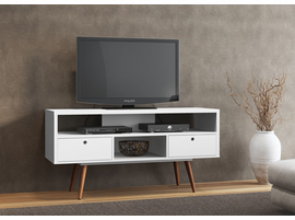 Ideaz International 23103 Jessie TV Stand White Satin