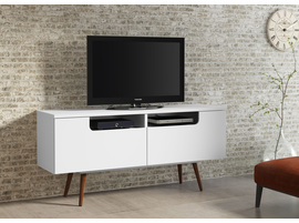 Ideaz International 23104 Jensen TV Stand White Satin