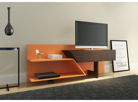 Ideaz International 23802 Prisma TV Cabinet Espresso/Orange