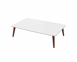 Ideaz International 24513 Coffee Table White Lacquer