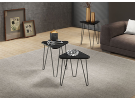 Ideaz International 24812 Fleming End Table Black Fresno