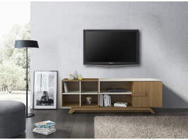 Ideaz International 27021 Elegance TV Cabinet Oak Hanover/Caramel Fendi