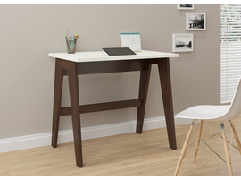 Ideaz International Trendline 26107 Off-white Wood and Laminate Home Office Desk