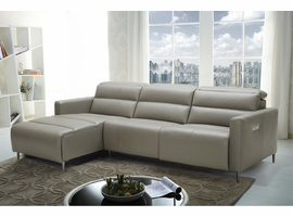 J & M Dylan Premium Leather Motion Sectional in Left Hand Facing Chaise