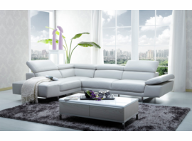 J & M Furniture 1717 Italian Leather Sectional Left Hand Facing