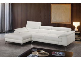 J & M Furniture Alice Premium Leather Sectional In Left Facing Chaise