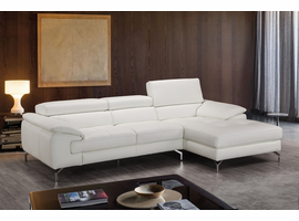 J & M Furniture Alice Premium Leather Sectional In Right Facing Chaise