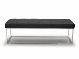 J & M Furniture Chelsea Luyx Bench in Black