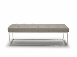 J & M Furniture Chelsea Luyx Bench in Grey