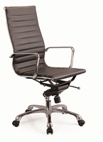 J & M Furniture Comfy High Back Black Office Chair